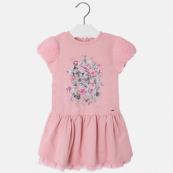 Платье для девочки MayoralПлатья и сарафаны<br>Характеристики товара:<br><br>• цвет: розовый<br>• состав ткани: 70% полиэстер, 30% хлопок<br>• сезон: круглый год<br>• короткие рукава<br>• стразы<br>• застежка: молния<br>• страна бренда: Испания<br>• страна изготовитель: Индия<br><br>Розовое детское платье от бренда Майорал поможет девочке выглядеть красиво и чувствовать себя комфортно. Такое детское платье отличается интересным фасоном и отделкой. <br><br>Для производства детской одежды популярный бренд Mayoral использует только качественную фурнитуру и материалы. Оригинальные и модные вещи от Майорал неизменно привлекают внимание и нравятся детям.<br><br>Платье для девочки Mayoral (Майорал) можно купить в нашем интернет-магазине.<br>Ширина мм: 236; Глубина мм: 16; Высота мм: 184; Вес г: 177; Цвет: розовый; Возраст от месяцев: 96; Возраст до месяцев: 108; Пол: Женский; Возраст: Детский; Размер: 134,98,104,110,116,122,128; SKU: 6923466;