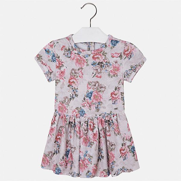 Платье Mayoral для девочкиОдежда<br>Характеристики товара:<br><br>• цвет: коричневый<br>• состав ткани: 70% полиэстер, 30% хлопок<br>• сезон: круглый год<br>• короткие рукава<br>• застежка: молния<br>• страна бренда: Испания<br>• страна изготовитель: Индия<br><br>Модная детская одежда от Mayoral поможет детям выглядеть красиво. Это платье для девочки из комбинированного материала отличается стильным силуэтом и цветочным принтом. Детское платье от бренда Майорал поможет девочке выглядеть женственно и стильно. <br><br>Детская одежда от испанской компании Mayoral отличаются оригинальным и всегда стильным дизайном. Качество продукции неизменно очень высокое.<br><br>Платье для девочки Mayoral (Майорал) можно купить в нашем интернет-магазине.<br><br>Ширина мм: 236<br>Глубина мм: 16<br>Высота мм: 184<br>Вес г: 177<br>Цвет: бежевый<br>Возраст от месяцев: 96<br>Возраст до месяцев: 108<br>Пол: Женский<br>Возраст: Детский<br>Размер: 134,128,122,116,110,104,98<br>SKU: 6923474