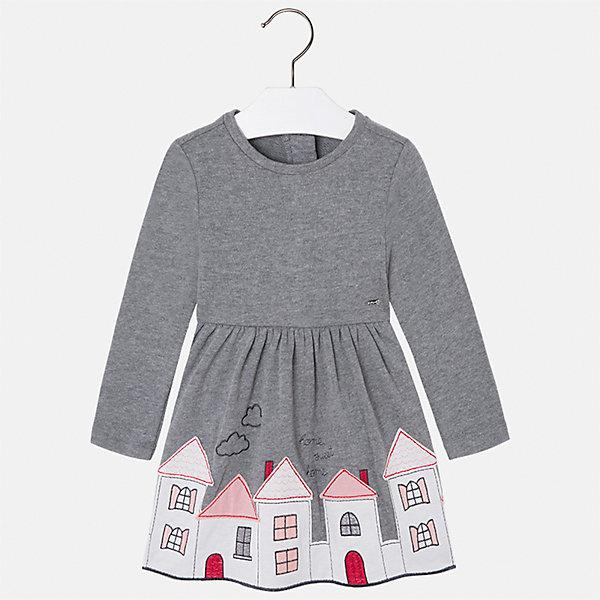 Платье Mayoral для девочкиОсенне-зимние платья и сарафаны<br>Характеристики товара:<br><br>• цвет: серый<br>• состав ткани: 60% хлопок, 40% полиэстер<br>• сезон: круглый год<br>• длинные рукава<br>• застежка: молния<br>• страна бренда: Испания<br>• страна изготовитель: Индия<br><br>Трикотажное платье от бренда Майорал поможет девочке выглядеть красиво и чувствовать себя комфортно. Такое детское платье отличается интересным фасоном и отделкой. <br><br>Для производства детской одежды популярный бренд Mayoral использует только качественную фурнитуру и материалы. Оригинальные и модные вещи от Майорал неизменно привлекают внимание и нравятся детям.<br><br>Платье для девочки Mayoral (Майорал) можно купить в нашем интернет-магазине.<br><br>Ширина мм: 236<br>Глубина мм: 16<br>Высота мм: 184<br>Вес г: 177<br>Цвет: серый<br>Возраст от месяцев: 18<br>Возраст до месяцев: 24<br>Пол: Женский<br>Возраст: Детский<br>Размер: 92,134,128,122,116,110,104,98<br>SKU: 6923518
