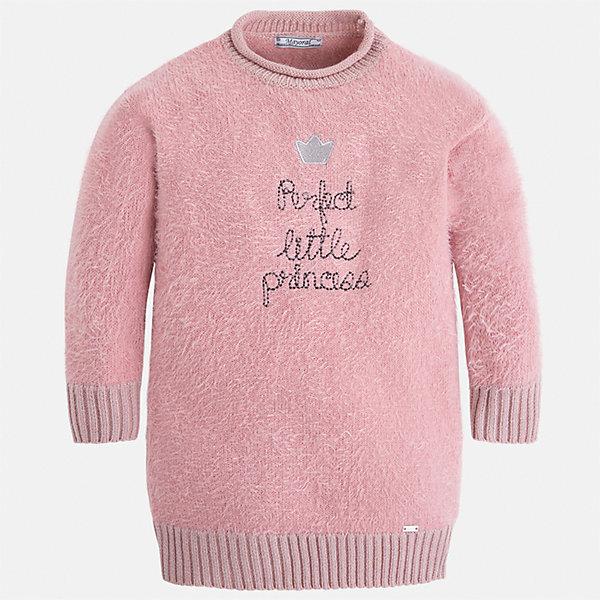 Платье Mayoral для девочкиПлатья и сарафаны<br>Характеристики товара:<br><br>• цвет: розовый<br>• состав ткани: 62% полиамид, 38% акрил<br>• сезон: круглый год<br>• длинные рукава<br>• манжеты<br>• страна бренда: Испания<br>• страна изготовитель: Индия<br><br>Вязаное детское платье от бренда Майорал поможет девочке выглядеть женственно и стильно. Это оригинальное платье декорировано оригинальной вышивкой. <br><br>В одежде от испанской компании Майорал ребенок будет выглядеть модно, а чувствовать себя - комфортно. Целая команда европейских талантливых дизайнеров работает над созданием стильных и оригинальных моделей одежды.<br><br>Платье для девочки Mayoral (Майорал) можно купить в нашем интернет-магазине.<br><br>Ширина мм: 236<br>Глубина мм: 16<br>Высота мм: 184<br>Вес г: 177<br>Цвет: розовый<br>Возраст от месяцев: 24<br>Возраст до месяцев: 36<br>Пол: Женский<br>Возраст: Детский<br>Размер: 98,122,116,110,104<br>SKU: 6923536