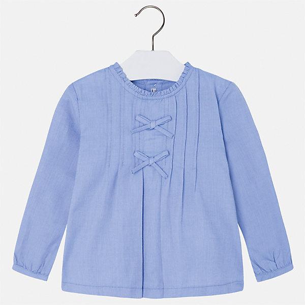 Рубашка Mayoral для девочкиБлузки и рубашки<br>Характеристики товара:<br><br>• цвет: голубой<br>• состав ткани: 100% хлопок<br>• сезон: круглый год<br>• застежка: пуговицы<br>• длинные рукава<br>• страна бренда: Испания<br>• страна изготовитель: Индия<br><br>Модная блузка отличается свободным силуэтом и интересной отделкой. Стильная блузка для девочки от бренда Майорал поможет девочке выглядеть модно и чувствовать себя комфортно. <br><br>Для производства детской одежды популярный бренд Mayoral использует только качественную фурнитуру и материалы. Оригинальные и модные вещи от Майорал неизменно привлекают внимание и нравятся детям.<br><br>Блузку для девочки Mayoral (Майорал) можно купить в нашем интернет-магазине.<br>Ширина мм: 186; Глубина мм: 87; Высота мм: 198; Вес г: 197; Цвет: голубой; Возраст от месяцев: 48; Возраст до месяцев: 60; Пол: Женский; Возраст: Детский; Размер: 110,104,134,128,122,116; SKU: 6923953;
