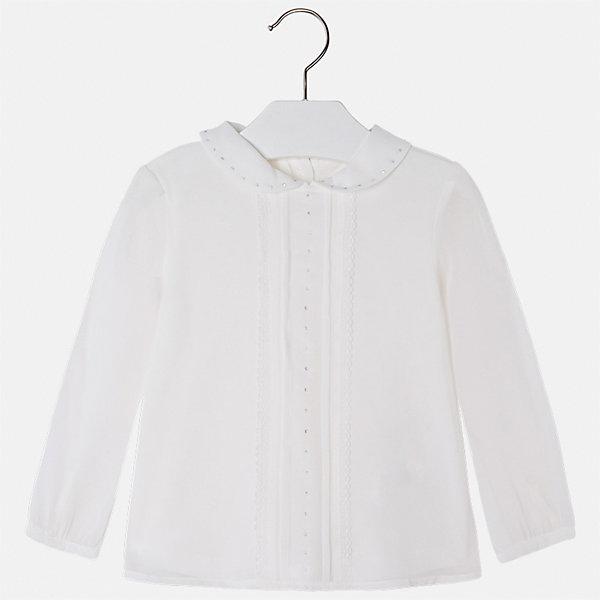 Блузка Mayoral для девочкиБлузки и рубашки<br>Характеристики товара:<br><br>• цвет: бежевый<br>• состав ткани: 100% полиэстер, подкладка - 65% полиэстер, 35% хлопок<br>• сезон: круглый год<br>• застежка: пуговицы<br>• особенности модели: школьная, нарядная<br>• стразы<br>• длинные рукава<br>• страна бренда: Испания<br>• страна изготовитель: Индия<br><br>Модная блузка со стразами может стать основой гардероба современной девочки. Красивая и удобная блузка для девочки сшита из легкого качественного материала. <br><br>Детская одежда от испанской компании Mayoral отличаются оригинальным и всегда стильным дизайном. Качество продукции неизменно очень высокое.<br><br>Блузку для девочки Mayoral (Майорал) можно купить в нашем интернет-магазине.<br><br>Ширина мм: 186<br>Глубина мм: 87<br>Высота мм: 198<br>Вес г: 197<br>Цвет: бежевый<br>Возраст от месяцев: 24<br>Возраст до месяцев: 36<br>Пол: Женский<br>Возраст: Детский<br>Размер: 98,134,128,122,116,110,104<br>SKU: 6923960