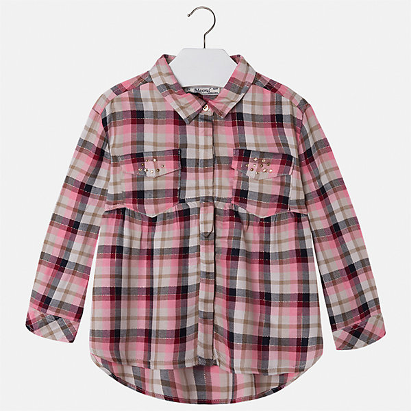 Рубашка Mayoral для девочкиБлузки и рубашки<br>Характеристики товара:<br><br>• цвет: красный<br>• состав ткани: 100% вискоза<br>• сезон: круглый год<br>• застежка: пуговицы<br>• стразы<br>• длинные рукава<br>• страна бренда: Испания<br>• страна изготовитель: Индия<br><br>Стильная блузка от Майорал - это пример отличного вкуса. Она сделана из легкого дышащего материала. Эта блузка для девочки обеспечит ребенку комфорт и модный внешний вид. <br><br>В одежде от испанской компании Майорал ребенок будет выглядеть модно, а чувствовать себя - комфортно. Целая команда европейских талантливых дизайнеров работает над созданием стильных и оригинальных моделей одежды.<br><br>Блузку для девочки Mayoral (Майорал) можно купить в нашем интернет-магазине.<br><br>Ширина мм: 186<br>Глубина мм: 87<br>Высота мм: 198<br>Вес г: 197<br>Цвет: красный<br>Возраст от месяцев: 36<br>Возраст до месяцев: 48<br>Пол: Женский<br>Возраст: Детский<br>Размер: 104,134,128,122,116,110<br>SKU: 6923992