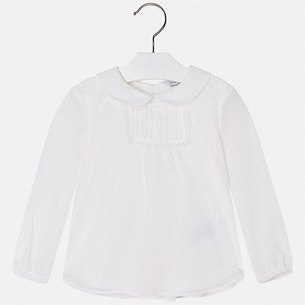 Блузка для девочки MayoralБлузки и рубашки<br>Характеристики товара:<br><br>• цвет: белый<br>• состав ткани: 100% полиэстер, подкладка - 100% хлопок<br>• сезон: круглый год<br>• застежка: пуговицы<br>• особенности модели: школьная, нарядная<br>• длинные рукава<br>• страна бренда: Испания<br>• страна изготовитель: Индия<br><br>Белая блузка отличается свободным силуэтом и интересной отделкой. Стильная блузка для девочки от бренда Майорал поможет девочке выглядеть модно и чувствовать себя комфортно. <br><br>Для производства детской одежды популярный бренд Mayoral использует только качественную фурнитуру и материалы. Оригинальные и модные вещи от Майорал неизменно привлекают внимание и нравятся детям.<br><br>Блузку для девочки Mayoral (Майорал) можно купить в нашем интернет-магазине.<br>Ширина мм: 186; Глубина мм: 87; Высота мм: 198; Вес г: 197; Цвет: бежевый; Возраст от месяцев: 48; Возраст до месяцев: 60; Пол: Женский; Возраст: Детский; Размер: 110,128,122,104,98,134,116; SKU: 6923999;
