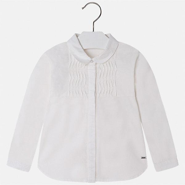 Рубашка Mayoral для девочкиБлузки и рубашки<br>Характеристики товара:<br><br>• цвет: белый<br>• состав ткани: 100% хлопок<br>• сезон: круглый год<br>• застежка: пуговицы<br>• длинные рукава<br>• страна бренда: Испания<br>• страна изготовитель: Индия<br><br>Светлая блузка со стразами может стать основой гардероба современной девочки. Красивая и удобная блузка для девочки сшита из легкого качественного материала. <br><br>Детская одежда от испанской компании Mayoral отличаются оригинальным и всегда стильным дизайном. Качество продукции неизменно очень высокое.<br><br>Блузку для девочки Mayoral (Майорал) можно купить в нашем интернет-магазине.<br><br>Ширина мм: 186<br>Глубина мм: 87<br>Высота мм: 198<br>Вес г: 197<br>Цвет: бежевый<br>Возраст от месяцев: 36<br>Возраст до месяцев: 48<br>Пол: Женский<br>Возраст: Детский<br>Размер: 104,134,116,110,128,122<br>SKU: 6924007