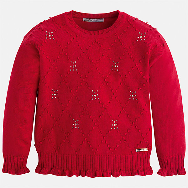 Свитер для девочки MayoralСвитера и кардиганы<br>Характеристики товара:<br><br>• цвет: красный<br>• состав ткани: 45% акрил, 45% полиамид, 10% ангора<br>• сезон: круглый год<br>• стразы<br>• длинные рукава<br>• страна бренда: Испания<br>• страна изготовитель: Индия<br><br>Красный свитер отличается свободным силуэтом и интересной отделкой. Вязаный свитер для девочки от бренда Майорал поможет девочке выглядеть модно и чувствовать себя комфортно. <br><br>Для производства детской одежды популярный бренд Mayoral использует только качественную фурнитуру и материалы. Оригинальные и модные вещи от Майорал неизменно привлекают внимание и нравятся детям.<br><br>Свитер для девочки Mayoral (Майорал) можно купить в нашем интернет-магазине.<br>Ширина мм: 190; Глубина мм: 74; Высота мм: 229; Вес г: 236; Цвет: красный; Возраст от месяцев: 24; Возраст до месяцев: 36; Пол: Женский; Возраст: Детский; Размер: 98,134,104,110,116,122,128; SKU: 6924021;