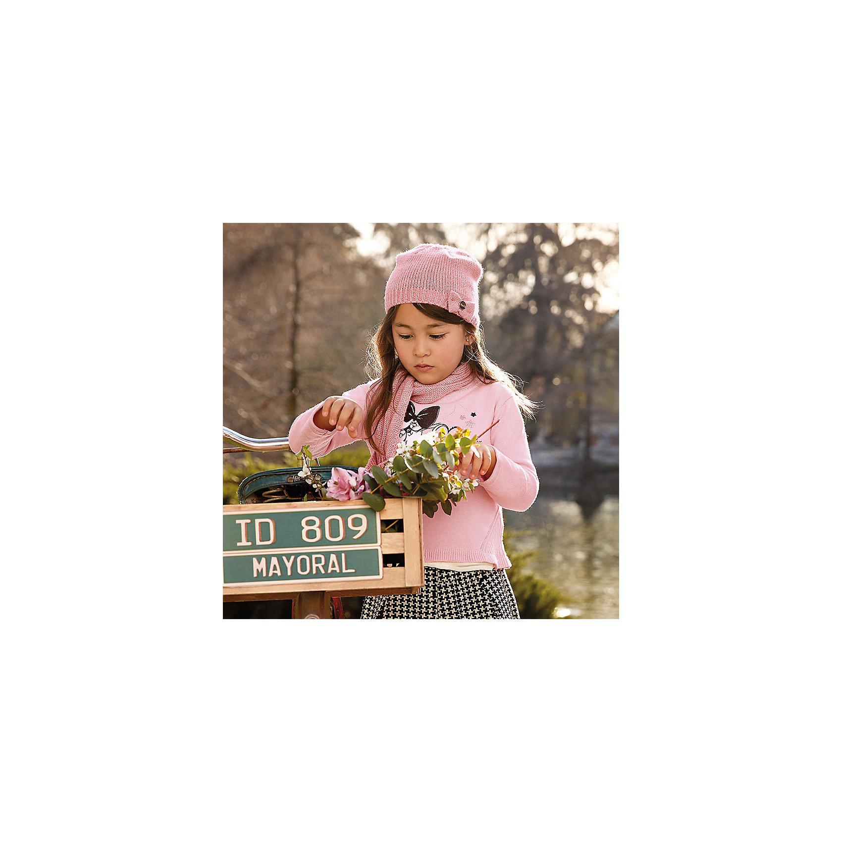 Свитер для девочки MayoralСвитера и кардиганы<br>Характеристики товара:<br><br>• цвет: розовый<br>• состав ткани: 55% хлопок, 45% акрил<br>• сезон: круглый год<br>• стразы<br>• длинные рукава<br>• страна бренда: Испания<br>• страна изготовитель: Индия<br><br>Розовый свитер отличается свободным силуэтом и интересной отделкой. Вязаный свитер для девочки от бренда Майорал поможет девочке выглядеть модно и чувствовать себя комфортно. <br><br>Для производства детской одежды популярный бренд Mayoral использует только качественную фурнитуру и материалы. Оригинальные и модные вещи от Майорал неизменно привлекают внимание и нравятся детям.<br><br>Свитер для девочки Mayoral (Майорал) можно купить в нашем интернет-магазине.<br><br>Ширина мм: 190<br>Глубина мм: 74<br>Высота мм: 229<br>Вес г: 236<br>Цвет: розовый<br>Возраст от месяцев: 96<br>Возраст до месяцев: 108<br>Пол: Женский<br>Возраст: Детский<br>Размер: 134,92,98,104,110,116,122,128<br>SKU: 6924045