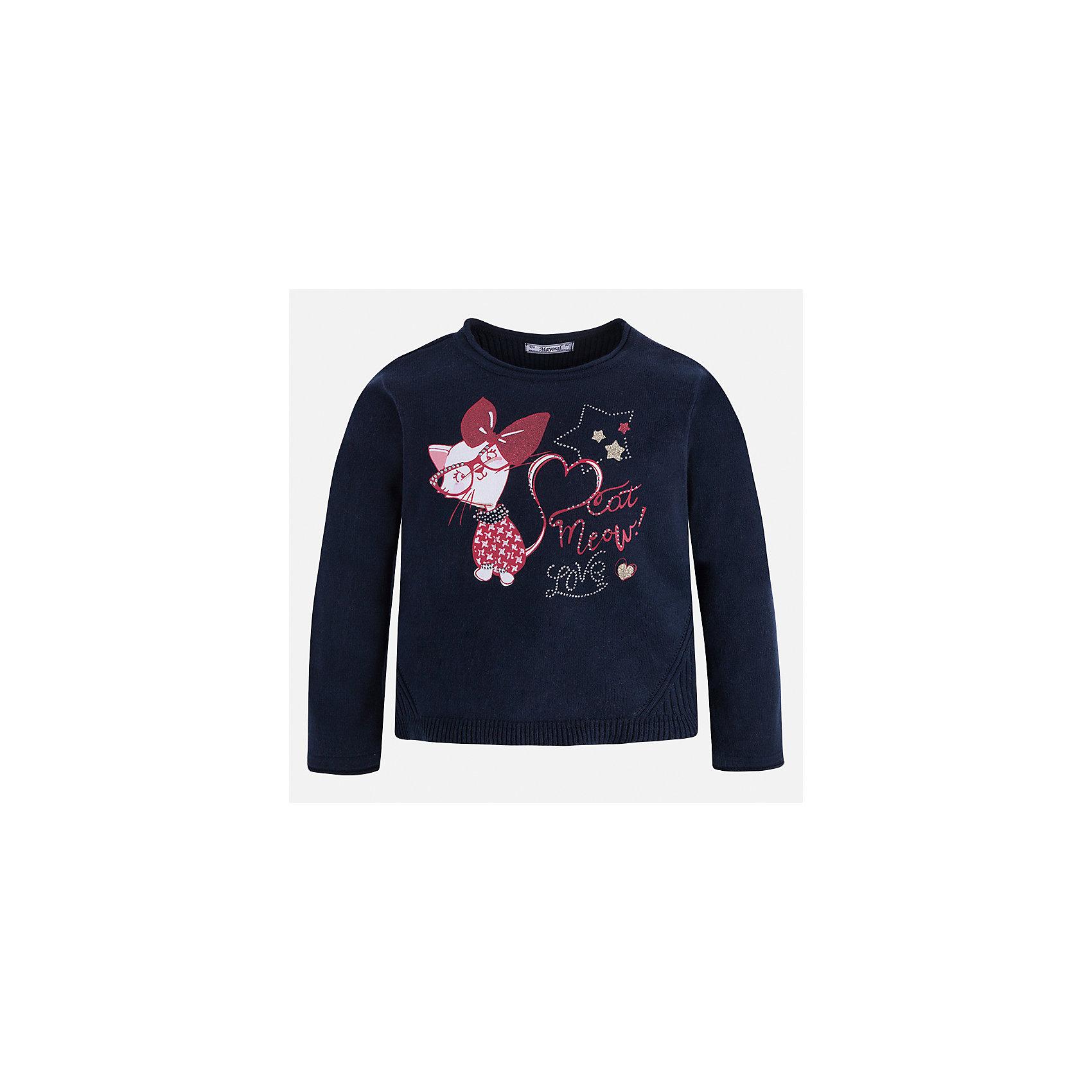Свитер для девочки MayoralСвитера и кардиганы<br>Характеристики товара:<br><br>• цвет: черный<br>• состав ткани: 55% хлопок, 45% акрил<br>• сезон: круглый год<br>• стразы<br>• длинные рукава<br>• страна бренда: Испания<br>• страна изготовитель: Индия<br><br>Стильный вязаный черный свитер от Майорал - это пример отличного вкуса. Он сделан из приятной на ощупь пряжи. Такой свитер для девочки обеспечит ребенку комфорт и модный внешний вид. <br><br>В одежде от испанской компании Майорал ребенок будет выглядеть модно, а чувствовать себя - комфортно. Целая команда европейских талантливых дизайнеров работает над созданием стильных и оригинальных моделей одежды.<br><br>Свитер для девочки Mayoral (Майорал) можно купить в нашем интернет-магазине.<br><br>Ширина мм: 190<br>Глубина мм: 74<br>Высота мм: 229<br>Вес г: 236<br>Цвет: черный<br>Возраст от месяцев: 18<br>Возраст до месяцев: 24<br>Пол: Женский<br>Возраст: Детский<br>Размер: 92,98,104,110,116,122,128,134<br>SKU: 6924064