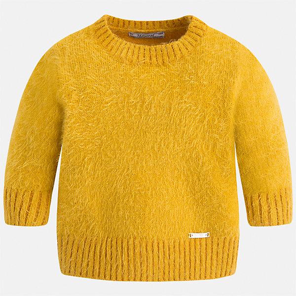 Свитер Mayoral для девочкиСвитера и кардиганы<br>Характеристики товара:<br><br>• цвет: желтый<br>• состав ткани: 62% полиамид, 38% акрил<br>• сезон: круглый год<br>• манжеты<br>• длинные рукава<br>• страна бренда: Испания<br>• страна изготовитель: Индия<br><br>Яркий свитер отличается широкими манжетами и пушистым ворсом. Вязаный свитер для девочки от бренда Майорал поможет девочке выглядеть модно и чувствовать себя комфортно. <br><br>Для производства детской одежды популярный бренд Mayoral использует только качественную фурнитуру и материалы. Оригинальные и модные вещи от Майорал неизменно привлекают внимание и нравятся детям.<br><br>Свитер для девочки Mayoral (Майорал) можно купить в нашем интернет-магазине.<br>Ширина мм: 190; Глубина мм: 74; Высота мм: 229; Вес г: 236; Цвет: желтый; Возраст от месяцев: 84; Возраст до месяцев: 96; Пол: Женский; Возраст: Детский; Размер: 128,92,134,122,116,110,104,98; SKU: 6924121;