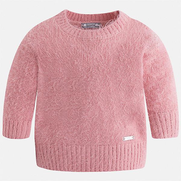 Свитер для девочки MayoralСвитера и кардиганы<br>Характеристики товара:<br><br>• цвет: розовый<br>• состав ткани: 62% полиамид, 38% акрил<br>• сезон: круглый год<br>• манжеты<br>• длинные рукава<br>• страна бренда: Испания<br>• страна изготовитель: Индия<br><br>Красивый свитер отличается широкими манжетами и пушистым ворсом. Вязаный свитер для девочки от бренда Майорал поможет девочке выглядеть модно и чувствовать себя комфортно. <br><br>Для производства детской одежды популярный бренд Mayoral использует только качественную фурнитуру и материалы. Оригинальные и модные вещи от Майорал неизменно привлекают внимание и нравятся детям.<br><br>Свитер для девочки Mayoral (Майорал) можно купить в нашем интернет-магазине.<br>Ширина мм: 190; Глубина мм: 74; Высота мм: 229; Вес г: 236; Цвет: розовый; Возраст от месяцев: 18; Возраст до месяцев: 24; Пол: Женский; Возраст: Детский; Размер: 92,134,128,122,116,110,104,98; SKU: 6924148;