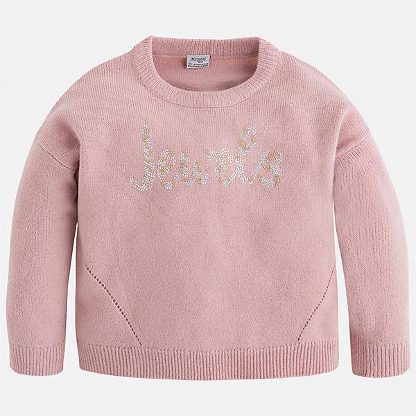 Свитер Mayoral для девочкиСвитера и кардиганы<br>Характеристики товара:<br><br>• цвет: розовый<br>• состав ткани: 90% акрил, 10% полиамид<br>• сезон: круглый год<br>• стразы<br>• длинные рукава<br>• страна бренда: Испания<br>• страна изготовитель: Камбоджа<br><br>Мягкий розовый свитер Mayoral может стать одной из любимых вещей современной девочки. Модная и удобная вещь для девочки сделана из качественного материала с преобладанием в составе натурального хлопка. <br><br>Детская одежда от испанской компании Mayoral отличаются оригинальным и всегда стильным дизайном. Качество продукции неизменно очень высокое.<br><br>Свитер для девочки Mayoral (Майорал) можно купить в нашем интернет-магазине.<br><br>Ширина мм: 190<br>Глубина мм: 74<br>Высота мм: 229<br>Вес г: 236<br>Цвет: розовый<br>Возраст от месяцев: 36<br>Возраст до месяцев: 48<br>Пол: Женский<br>Возраст: Детский<br>Размер: 116,110,98,104,134,128,122<br>SKU: 6924205