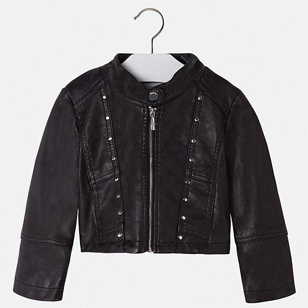 Куртка для девочки MayoralВерхняя одежда<br>Характеристики товара:<br><br>• цвет: черный<br>• состав ткани: 100% полиуретан, подклад - 100% полиэстер<br>• застежка: молния<br>• длинные рукава<br>• сезон: круглый год<br>• страна бренда: Испания<br>• страна изготовитель: Индия<br><br>Такая куртка для девочки сможет дополнить наряд и обеспечить тепло. Куртка сделана из качественного материала, есть подкладка. Модная куртка от Майорал - это пример отличного вкуса. <br><br>В одежде от испанской компании Майорал ребенок будет выглядеть модно, а чувствовать себя - комфортно. Целая команда европейских талантливых дизайнеров работает над созданием стильных и оригинальных моделей одежды.<br><br>Куртку для девочки Mayoral (Майорал) можно купить в нашем интернет-магазине.<br><br>Ширина мм: 356<br>Глубина мм: 10<br>Высота мм: 245<br>Вес г: 519<br>Цвет: черный<br>Возраст от месяцев: 36<br>Возраст до месяцев: 48<br>Пол: Женский<br>Возраст: Детский<br>Размер: 134,104,128,122,116,110<br>SKU: 6924234