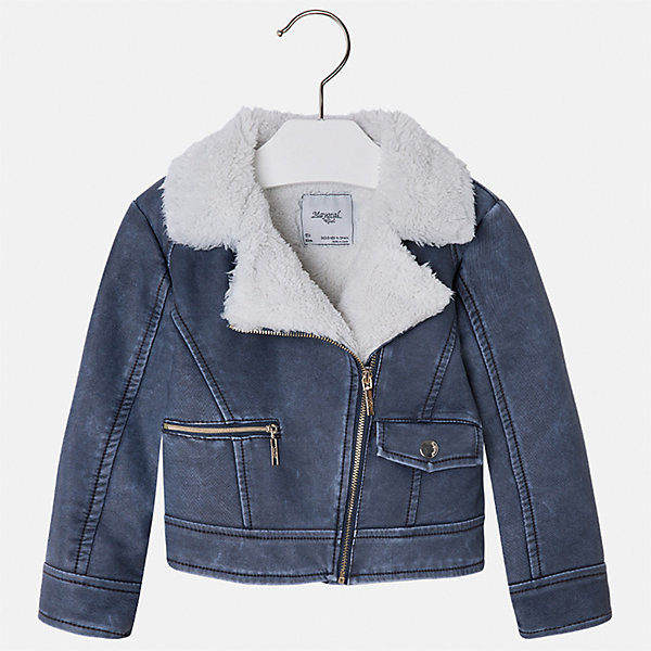 Куртка для девочки MayoralВерхняя одежда<br>Характеристики товара:<br><br>• цвет: голубой<br>• состав ткани: 100% полиуретан, подклад - 100% полиэстер<br>• застежка: молния<br>• длинные рукава<br>• сезон: демисезон<br>• температурный режим: от 0 до +10<br>• страна бренда: Испания<br>• страна изготовитель: Индия<br><br>Голубая стильная куртка с мягкой подкладкой для девочки от Майорал поможет обеспечить тепло и комфорт. Эффектная детская куртка отличается модным силуэтом. <br><br>Для производства детской одежды популярный бренд Mayoral использует только качественную фурнитуру и материалы. Оригинальные и модные вещи от Майорал неизменно привлекают внимание и нравятся детям.<br><br>Куртку для девочки Mayoral (Майорал) можно купить в нашем интернет-магазине.<br>Ширина мм: 356; Глубина мм: 10; Высота мм: 245; Вес г: 519; Цвет: голубой; Возраст от месяцев: 96; Возраст до месяцев: 108; Пол: Женский; Возраст: Детский; Размер: 134,98,128,122,116,110,104; SKU: 6924256;