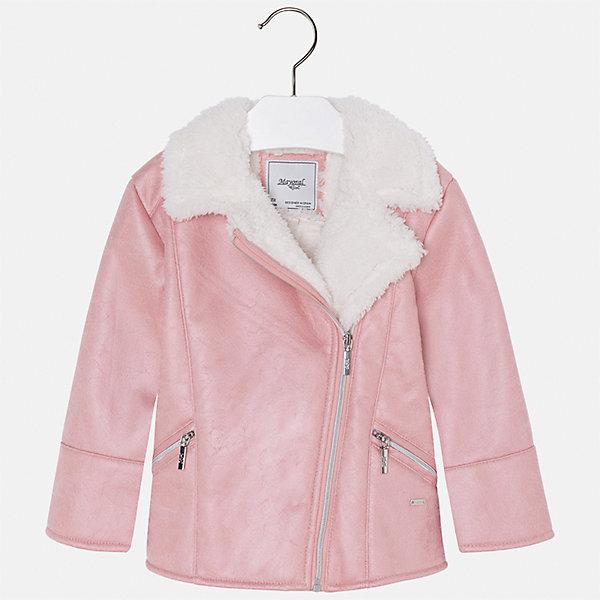 Куртка Mayoral для девочкиВерхняя одежда<br>Характеристики товара:<br><br>• цвет: розовый<br>• состав ткани: 100% полиуретан, подклад - 100% полиэстер<br>• застежка: молния<br>• длинные рукава<br>• сезон: демисезон<br>• температурный режим: от -5 до +5<br>• страна бренда: Испания<br>• страна изготовитель: Индия<br><br>Такая куртка для девочки сможет обеспечить тепло в период межсезонья. Куртка сделана из качественного материала, есть подкладка. Модная куртка от Майорал - это пример отличного вкуса. <br><br>В одежде от испанской компании Майорал ребенок будет выглядеть модно, а чувствовать себя - комфортно. Целая команда европейских талантливых дизайнеров работает над созданием стильных и оригинальных моделей одежды.<br><br>Куртку для девочки Mayoral (Майорал) можно купить в нашем интернет-магазине.<br><br>Ширина мм: 356<br>Глубина мм: 10<br>Высота мм: 245<br>Вес г: 519<br>Цвет: коричневый<br>Возраст от месяцев: 84<br>Возраст до месяцев: 96<br>Пол: Женский<br>Возраст: Детский<br>Размер: 128,98,134,122,116,110,104<br>SKU: 6924264