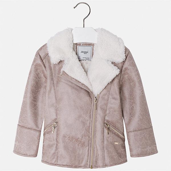 Куртка Mayoral для девочкиВерхняя одежда<br>Характеристики товара:<br><br>• цвет: бежевый<br>• состав ткани: 100% полиуретан, подклад - 100% полиэстер<br>• застежка: молния<br>• длинные рукава<br>• сезон: демисезон<br>• температурный режим: от -5 до +5<br>• страна бренда: Испания<br>• страна изготовитель: Индия<br><br>Стильная куртка с оригинальным декором для девочки от Майорал поможет обеспечить тепло и комфорт. Эффектная детская куртка отличается модным укороченным силуэтом. <br><br>Детская одежда от испанской компании Mayoral отличаются оригинальным и всегда стильным дизайном. Качество продукции неизменно очень высокое.<br><br>Куртку для девочки Mayoral (Майорал) можно купить в нашем интернет-магазине.<br>Ширина мм: 356; Глубина мм: 10; Высота мм: 245; Вес г: 519; Цвет: бежевый; Возраст от месяцев: 48; Возраст до месяцев: 60; Пол: Женский; Возраст: Детский; Размер: 110,104,134,128,122,116; SKU: 6924272;