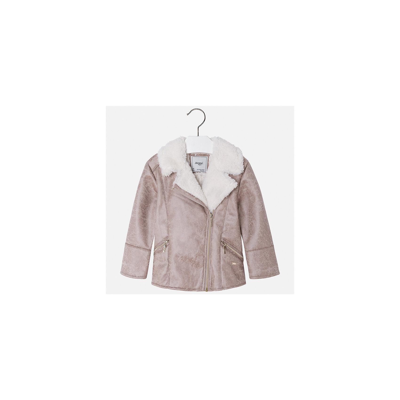 Куртка Mayoral для девочкиДемисезонные куртки<br>Характеристики товара:<br><br>• цвет: бежевый<br>• состав ткани: 100% полиуретан, подклад - 100% полиэстер<br>• застежка: молния<br>• длинные рукава<br>• сезон: демисезон<br>• температурный режим: от -5 до +5<br>• страна бренда: Испания<br>• страна изготовитель: Индия<br><br>Стильная куртка с оригинальным декором для девочки от Майорал поможет обеспечить тепло и комфорт. Эффектная детская куртка отличается модным укороченным силуэтом. <br><br>Детская одежда от испанской компании Mayoral отличаются оригинальным и всегда стильным дизайном. Качество продукции неизменно очень высокое.<br><br>Куртку для девочки Mayoral (Майорал) можно купить в нашем интернет-магазине.<br><br>Ширина мм: 356<br>Глубина мм: 10<br>Высота мм: 245<br>Вес г: 519<br>Цвет: бежевый<br>Возраст от месяцев: 96<br>Возраст до месяцев: 108<br>Пол: Женский<br>Возраст: Детский<br>Размер: 134,104,110,116,122,128<br>SKU: 6924272