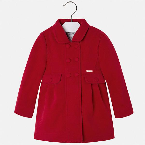 Пальто Mayoral для девочкиВерхняя одежда<br>Характеристики товара:<br><br>• цвет: красный<br>• состав ткани: 90% полиэстер, 8% вискоза, 2% эластан, подклад - 100% полиэстер<br>• застежка: пуговицы<br>• длинные рукава<br>• сезон: демисезон<br>• температурный режим: от -5 до +5<br>• страна бренда: Испания<br>• страна изготовитель: Индия<br><br>Красное пальто для девочки от Майорал поможет обеспечить тепло и комфорт. Эффектная детская верхняя одежда от Mayoral отличается модным силуэтом и актуальной расцветкой. <br><br>Для производства детской одежды популярный бренд Mayoral использует только качественную фурнитуру и материалы. Оригинальные и модные вещи от Майорал неизменно привлекают внимание и нравятся детям.<br><br>Пальто для девочки Mayoral (Майорал) можно купить в нашем интернет-магазине.<br><br>Ширина мм: 356<br>Глубина мм: 10<br>Высота мм: 245<br>Вес г: 519<br>Цвет: красный<br>Возраст от месяцев: 18<br>Возраст до месяцев: 24<br>Пол: Женский<br>Возраст: Детский<br>Размер: 92,134,128,122,116,110,104,98<br>SKU: 6924279