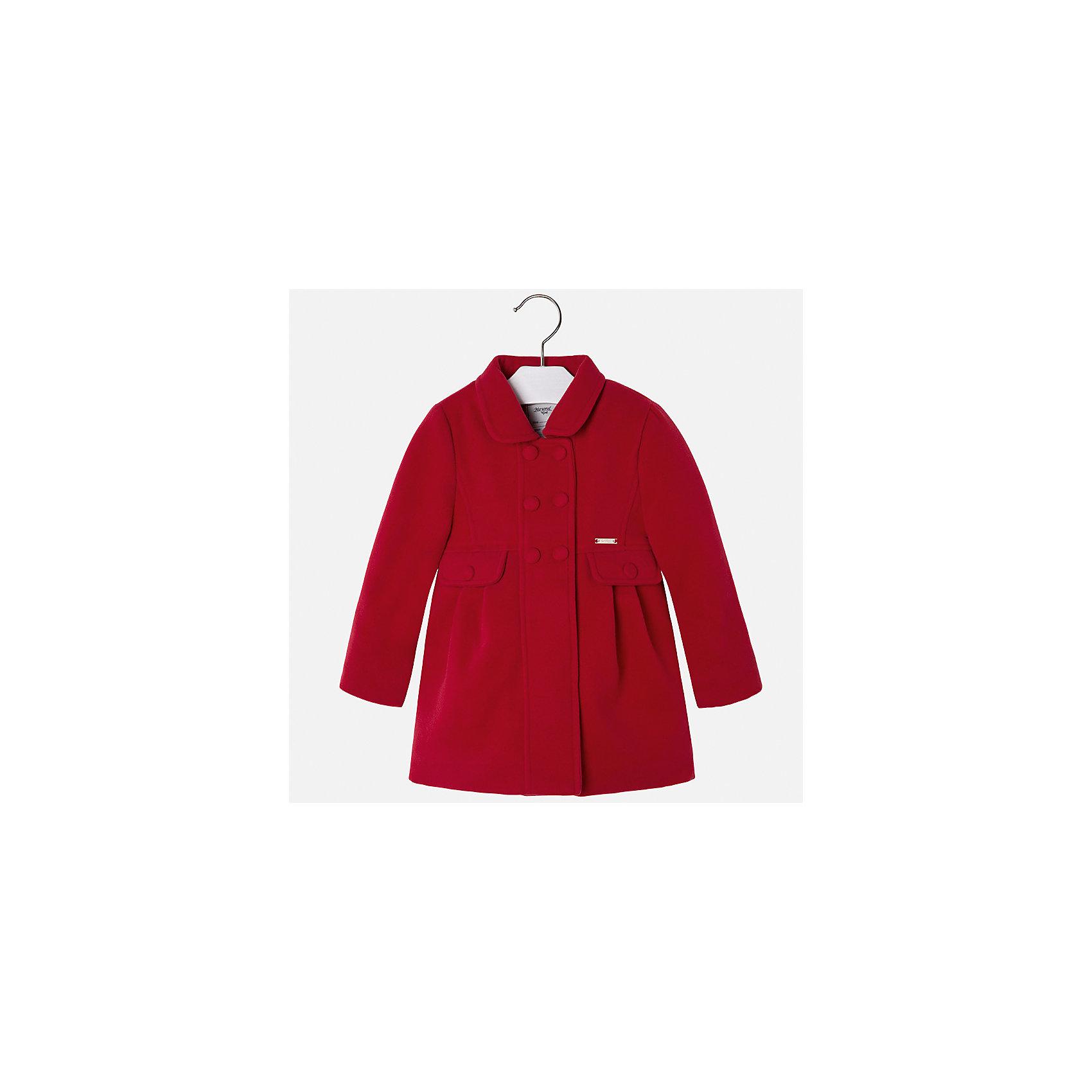 Пальто Mayoral для девочкиПальто и плащи<br>Характеристики товара:<br><br>• цвет: красный<br>• состав ткани: 90% полиэстер, 8% вискоза, 2% эластан, подклад - 100% полиэстер<br>• застежка: пуговицы<br>• длинные рукава<br>• сезон: демисезон<br>• температурный режим: от -5 до +5<br>• страна бренда: Испания<br>• страна изготовитель: Индия<br><br>Красное пальто для девочки от Майорал поможет обеспечить тепло и комфорт. Эффектная детская верхняя одежда от Mayoral отличается модным силуэтом и актуальной расцветкой. <br><br>Для производства детской одежды популярный бренд Mayoral использует только качественную фурнитуру и материалы. Оригинальные и модные вещи от Майорал неизменно привлекают внимание и нравятся детям.<br><br>Пальто для девочки Mayoral (Майорал) можно купить в нашем интернет-магазине.<br><br>Ширина мм: 356<br>Глубина мм: 10<br>Высота мм: 245<br>Вес г: 519<br>Цвет: красный<br>Возраст от месяцев: 96<br>Возраст до месяцев: 108<br>Пол: Женский<br>Возраст: Детский<br>Размер: 134,92,98,104,110,116,122,128<br>SKU: 6924279