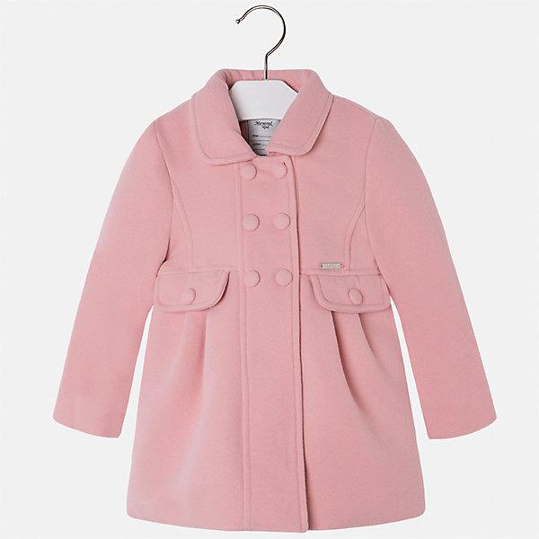 Пальто Mayoral для девочкиВерхняя одежда<br>Характеристики товара:<br><br>• цвет: розовый<br>• состав ткани: 90% полиэстер, 8% вискоза, 2% эластан, подклад - 100% полиэстер<br>• застежка: пуговицы<br>• длинные рукава<br>• сезон: демисезон<br>• температурный режим: от -5 до +5<br>• страна бренда: Испания<br>• страна изготовитель: Индия<br><br>Такое пальто для девочки сможет обеспечить тепло в период межсезонья. Модель сделана из качественного материала, есть подкладка. Модное пальто от Майорал - это пример отличного вкуса и высокого качества. <br><br>В одежде от испанской компании Майорал ребенок будет выглядеть модно, а чувствовать себя - комфортно. Целая команда европейских талантливых дизайнеров работает над созданием стильных и оригинальных моделей одежды.<br><br>Пальто для девочки Mayoral (Майорал) можно купить в нашем интернет-магазине.<br>Ширина мм: 356; Глубина мм: 10; Высота мм: 245; Вес г: 519; Цвет: розовый; Возраст от месяцев: 18; Возраст до месяцев: 24; Пол: Женский; Возраст: Детский; Размер: 92,134,98,104,110,116,122,128; SKU: 6924288;