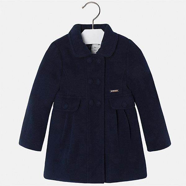 Пальто для девочки MayoralВерхняя одежда<br>Характеристики товара:<br><br>• цвет: черный<br>• состав ткани: 90% полиэстер, 8% вискоза, 2% эластан, подклад - 100% полиэстер<br>• застежка: пуговицы<br>• длинные рукава<br>• сезон: демисезон<br>• температурный режим: от +5 до -5<br>• страна бренда: Испания<br>• страна изготовитель: Индия<br><br>Темное пальто для девочки от Майорал поможет обеспечить тепло и комфорт. Эффектная детская верхняя одежда от Mayoral отличается модным силуэтом и актуальной расцветкой. <br><br>Для производства детской одежды популярный бренд Mayoral использует только качественную фурнитуру и материалы. Оригинальные и модные вещи от Майорал неизменно привлекают внимание и нравятся детям.<br><br>Пальто для девочки Mayoral (Майорал) можно купить в нашем интернет-магазине.<br>Ширина мм: 356; Глубина мм: 10; Высота мм: 245; Вес г: 519; Цвет: темно-синий; Возраст от месяцев: 36; Возраст до месяцев: 48; Пол: Женский; Возраст: Детский; Размер: 104,134,92,98,110,116,122,128; SKU: 6924305;