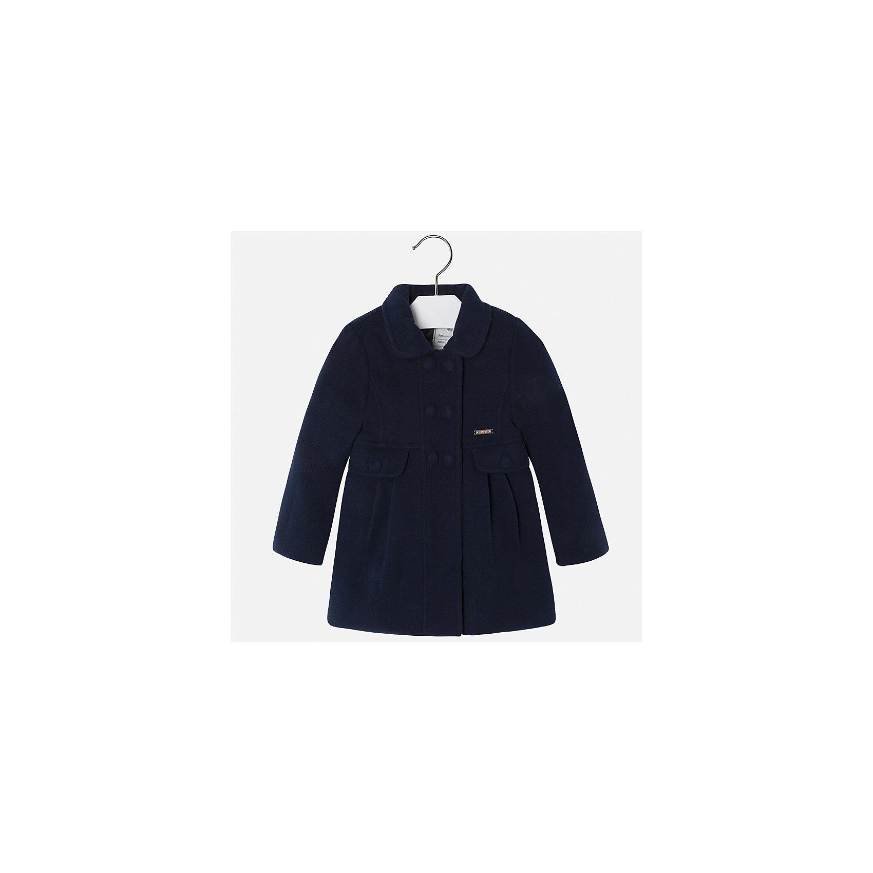 Пальто для девочки MayoralВерхняя одежда<br>Характеристики товара:<br><br>• цвет: черный<br>• состав ткани: 90% полиэстер, 8% вискоза, 2% эластан, подклад - 100% полиэстер<br>• застежка: пуговицы<br>• длинные рукава<br>• сезон: демисезон<br>• температурный режим: от +5 до -5<br>• страна бренда: Испания<br>• страна изготовитель: Индия<br><br>Темное пальто для девочки от Майорал поможет обеспечить тепло и комфорт. Эффектная детская верхняя одежда от Mayoral отличается модным силуэтом и актуальной расцветкой. <br><br>Для производства детской одежды популярный бренд Mayoral использует только качественную фурнитуру и материалы. Оригинальные и модные вещи от Майорал неизменно привлекают внимание и нравятся детям.<br><br>Пальто для девочки Mayoral (Майорал) можно купить в нашем интернет-магазине.<br><br>Ширина мм: 356<br>Глубина мм: 10<br>Высота мм: 245<br>Вес г: 519<br>Цвет: черный<br>Возраст от месяцев: 96<br>Возраст до месяцев: 108<br>Пол: Женский<br>Возраст: Детский<br>Размер: 116,122,128,134,104,92,98,110<br>SKU: 6924305