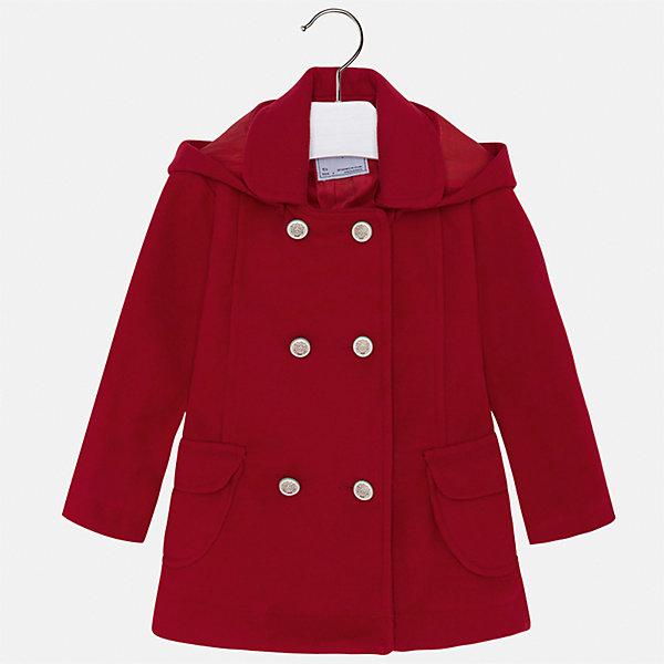 Купить Пальто Mayoral для девочки, Марокко, красный, 92, 134, 128, 122, 116, 110, 104, 98, Женский