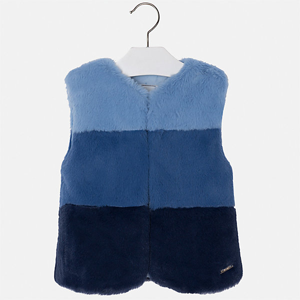 Жилет для девочки MayoralВерхняя одежда<br>Характеристики товара:<br><br>• цвет: синий<br>• состав ткани: 15% полиэстер, 85% акрил, подклад - 100% полиэстер<br>• застежка: молния<br>• без рукавов<br>• сезон: круглый год<br>• страна бренда: Испания<br>• страна изготовитель: Индия<br><br>Стильный синий жилет сделан из искусственного меха. Такой жилет для девочки от бренда Майорал поможет девочке выглядеть модно и чувствовать себя комфортно. <br><br>Для производства детской одежды популярный бренд Mayoral использует только качественную фурнитуру и материалы. Оригинальные и модные вещи от Майорал неизменно привлекают внимание и нравятся детям.<br><br>Жилет для девочки Mayoral (Майорал) можно купить в нашем интернет-магазине.<br><br>Ширина мм: 190<br>Глубина мм: 74<br>Высота мм: 229<br>Вес г: 236<br>Цвет: синий<br>Возраст от месяцев: 60<br>Возраст до месяцев: 72<br>Пол: Женский<br>Возраст: Детский<br>Размер: 116,110,104,98,134,128,122<br>SKU: 6924382