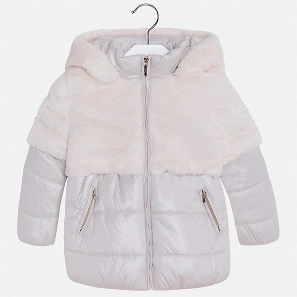 Куртка для девочки MayoralВерхняя одежда<br>Характеристики товара:<br><br>• цвет: бежевый<br>• состав ткани: 58% полиэстер, 42% акрил, подклад - 65% полиэстер, 35% акрил, утеплитель - 100% полиэстер<br>• застежка: молния<br>• длинные рукава<br>• сезон: демисезон<br>• температурный режим: от 0 до -10С<br>• страна бренда: Испания<br>• страна изготовитель: Индия<br><br>Бежевая куртка для девочки эффектно смотрится благодаря интересной отделке. Модная куртка от Майорал - это пример отличного вкуса и высокого качества. <br><br>В одежде от испанской компании Майорал ребенок будет выглядеть модно, а чувствовать себя - комфортно. Целая команда европейских талантливых дизайнеров работает над созданием стильных и оригинальных моделей одежды.<br><br>Куртку для девочки Mayoral (Майорал) можно купить в нашем интернет-магазине.<br>Ширина мм: 356; Глубина мм: 10; Высота мм: 245; Вес г: 519; Цвет: серый; Возраст от месяцев: 96; Возраст до месяцев: 108; Пол: Женский; Возраст: Детский; Размер: 134,92,128,122,116,110,104,98; SKU: 6924438;