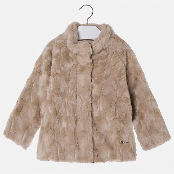 Куртка для девочки MayoralВерхняя одежда<br>Характеристики товара:<br><br>• цвет: коричневый<br>• состав ткани: 100% акрил, подклад - 65% полиэстер, 35% акрил<br>• застежка: молния<br>• длинные рукава<br>• сезон: демисезон<br>• температурный режим: от 0 до -10С<br>• страна бренда: Испания<br>• страна изготовитель: Индия<br><br>Такая куртка из искусственного меха поможет сделать образ стильным и оригинальным. Куртка от Mayoral из искусственного меха соответствует новейшим тенденциям молодежной моды. <br><br>Детская одежда от испанской компании Mayoral отличаются оригинальным и всегда стильным дизайном. Качество продукции неизменно очень высокое.<br><br>Куртку для девочки Mayoral (Майорал) можно купить в нашем интернет-магазине.<br><br>Ширина мм: 356<br>Глубина мм: 10<br>Высота мм: 245<br>Вес г: 519<br>Цвет: коричневый<br>Возраст от месяцев: 48<br>Возраст до месяцев: 60<br>Пол: Женский<br>Возраст: Детский<br>Размер: 110,104,98,92,134,128,122,116<br>SKU: 6924447