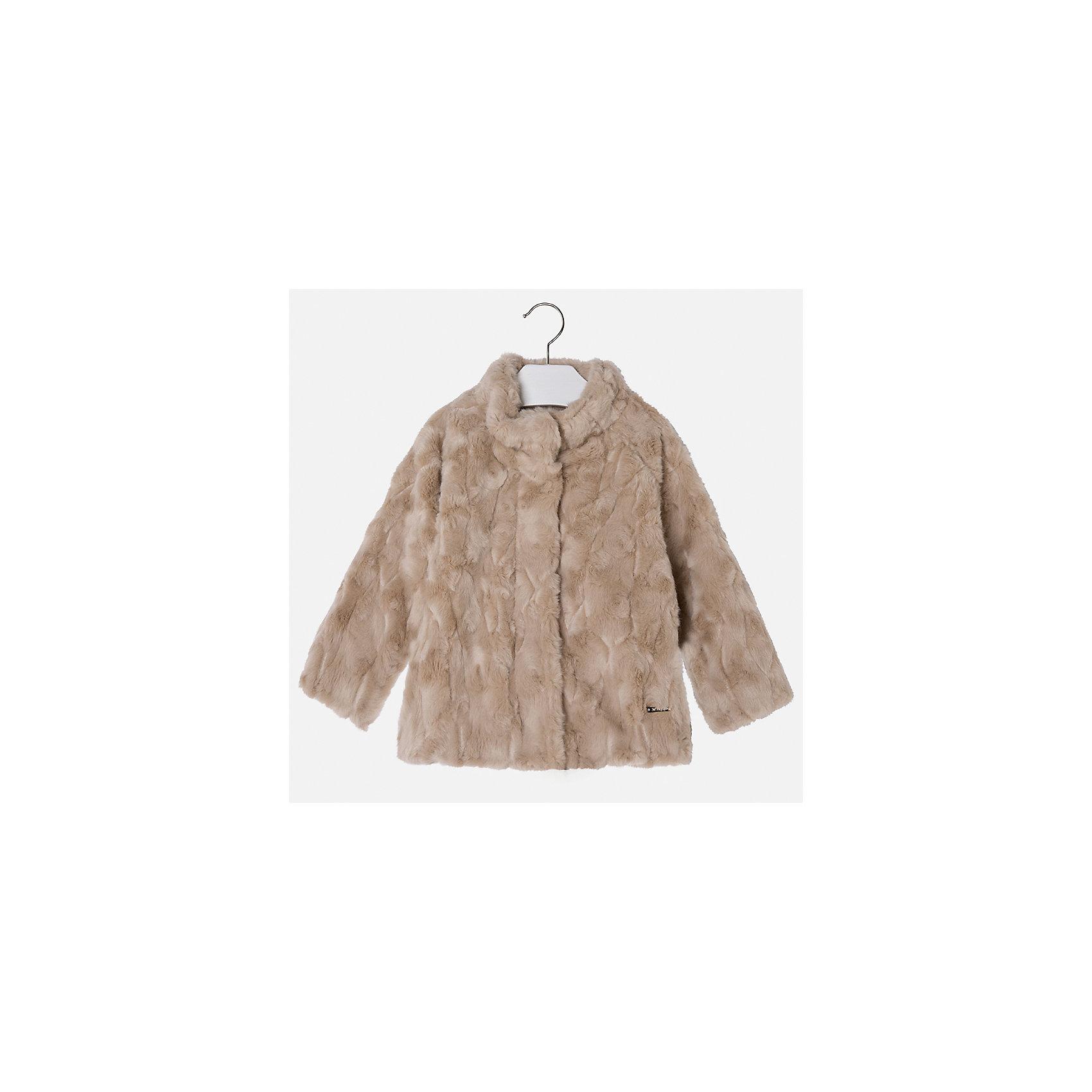 Куртка для девочки MayoralДемисезонные куртки<br>Характеристики товара:<br><br>• цвет: коричневый<br>• состав ткани: 100% акрил, подклад - 65% полиэстер, 35% акрил<br>• застежка: молния<br>• длинные рукава<br>• сезон: демисезон<br>• температурный режим: от 0 до -10С<br>• страна бренда: Испания<br>• страна изготовитель: Индия<br><br>Такая куртка из искусственного меха поможет сделать образ стильным и оригинальным. Куртка от Mayoral из искусственного меха соответствует новейшим тенденциям молодежной моды. <br><br>Детская одежда от испанской компании Mayoral отличаются оригинальным и всегда стильным дизайном. Качество продукции неизменно очень высокое.<br><br>Куртку для девочки Mayoral (Майорал) можно купить в нашем интернет-магазине.<br><br>Ширина мм: 356<br>Глубина мм: 10<br>Высота мм: 245<br>Вес г: 519<br>Цвет: коричневый<br>Возраст от месяцев: 96<br>Возраст до месяцев: 108<br>Пол: Женский<br>Возраст: Детский<br>Размер: 134,92,98,104,110,116,122,128<br>SKU: 6924447