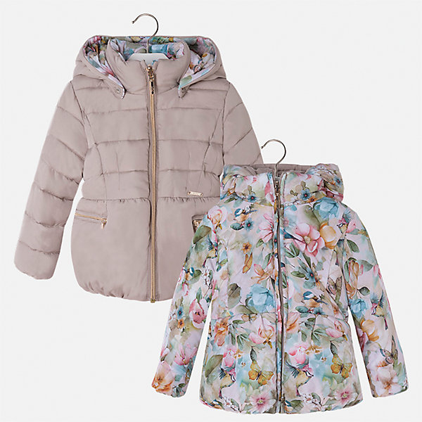 Куртка Mayoral для девочкиВерхняя одежда<br>Характеристики товара:<br><br>• цвет: коричневый<br>• состав ткани: 100% полиамид, подклад - 100% полиэстер, утеплитель - 100% полиэстер<br>• застежка: молния<br>• длинные рукава<br>• двусторонняя<br>• сезон: демисезон<br>• температурный режим: от 0 до -10С<br>• страна бренда: Испания<br>• страна изготовитель: Китай<br><br>Двусторонняя куртка для девочки эффектно смотрится благодаря приталенному силуэту. Модная куртка от Майорал - это пример отличного вкуса и высокого качества. <br><br>В одежде от испанской компании Майорал ребенок будет выглядеть модно, а чувствовать себя - комфортно. Целая команда европейских талантливых дизайнеров работает над созданием стильных и оригинальных моделей одежды.<br><br>Куртку для девочки Mayoral (Майорал) можно купить в нашем интернет-магазине.<br>Ширина мм: 356; Глубина мм: 10; Высота мм: 245; Вес г: 519; Цвет: коричневый; Возраст от месяцев: 18; Возраст до месяцев: 24; Пол: Женский; Возраст: Детский; Размер: 92,134,128,122,116,110,104,98; SKU: 6924465;