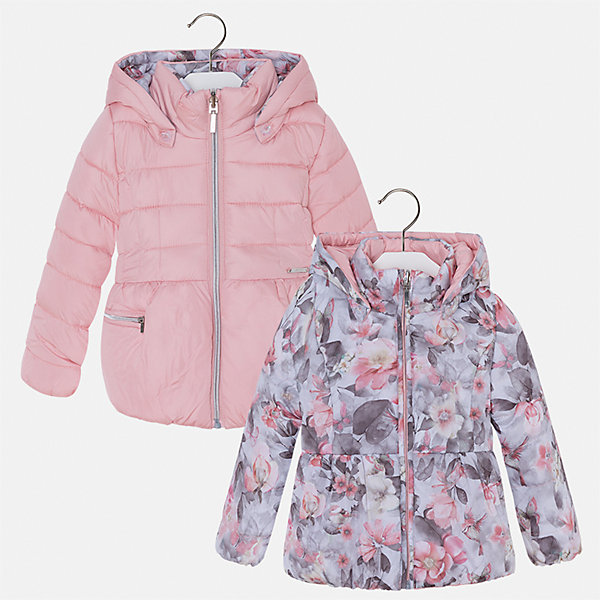 Куртка для девочки MayoralВерхняя одежда<br>Характеристики товара:<br><br>• цвет: розовый<br>• состав ткани: 100% полиамид, подклад - 100% полиэстер, утеплитель - 100% полиэстер<br>• застежка: молния<br>• длинные рукава<br>• двусторонняя<br>• сезон: демисезон<br>• температурный режим: от 0 до -10С<br>• страна бренда: Испания<br>• страна изготовитель: Китай<br><br>Двусторонняя куртка для девочки эффектно смотрится благодаря приталенному силуэту. Модная куртка от Майорал - это пример отличного вкуса и высокого качества. <br><br>В одежде от испанской компании Майорал ребенок будет выглядеть модно, а чувствовать себя - комфортно. Целая команда европейских талантливых дизайнеров работает над созданием стильных и оригинальных моделей одежды.<br><br>Куртку для девочки Mayoral (Майорал) можно купить в нашем интернет-магазине.<br>Ширина мм: 356; Глубина мм: 10; Высота мм: 245; Вес г: 519; Цвет: розовый; Возраст от месяцев: 18; Возраст до месяцев: 24; Пол: Женский; Возраст: Детский; Размер: 128,92,134,98,104,110,116,122; SKU: 6924492;