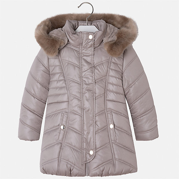 Куртка для девочки MayoralВерхняя одежда<br>Характеристики товара:<br><br>• цвет: коричневый<br>• состав ткани: 100% полиэстер, подклад - 100% полиэстер, утеплитель - 100% полиэстер<br>• застежка: молния<br>• длинные рукава<br>• опушка капюшона<br>• сезон: демисезон<br>• температурный режим: от 0 до -10С<br>• страна бренда: Испания<br>• страна изготовитель: Китай<br><br>Такая куртка обеспечит ребенку тепло в межсезонье и небольшие морозы. Капюшон отстегивается. Куртка от Mayoral соответствует новейшим тенденциям молодежной моды. <br><br>Детская одежда от испанской компании Mayoral отличаются оригинальным и всегда стильным дизайном. Качество продукции неизменно очень высокое.<br><br>Куртку для девочки Mayoral (Майорал) можно купить в нашем интернет-магазине.<br><br>Ширина мм: 356<br>Глубина мм: 10<br>Высота мм: 245<br>Вес г: 519<br>Цвет: коричневый<br>Возраст от месяцев: 60<br>Возраст до месяцев: 72<br>Пол: Женский<br>Возраст: Детский<br>Размер: 116,110,104,98,92,134,128,122<br>SKU: 6924501
