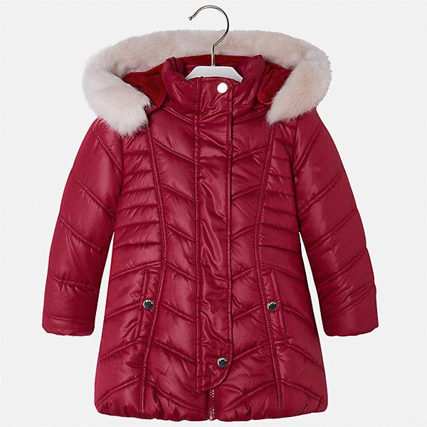 Куртка для девочки MayoralВерхняя одежда<br>Характеристики товара:<br><br>• цвет: красный<br>• состав ткани: 100% полиэстер, подклад - 100% полиэстер, утеплитель - 100% полиэстер<br>• застежка: молния<br>• длинные рукава<br>• опушка капюшона<br>• сезон: демисезон<br>• температурный режим: от 0 до -10С<br>• страна бренда: Испания<br>• страна изготовитель: Китай<br><br>Модная утепленная куртка сделана из качественного материала. Такая куртка для девочки от бренда Майорал поможет ребенку выглядеть модно и чувствовать себя комфортно. Капюшон съемный. <br><br>Для производства детской одежды популярный бренд Mayoral использует только качественную фурнитуру и материалы. Оригинальные и модные вещи от Майорал неизменно привлекают внимание и нравятся детям.<br><br>Куртку для девочки Mayoral (Майорал) можно купить в нашем интернет-магазине.<br><br>Ширина мм: 356<br>Глубина мм: 10<br>Высота мм: 245<br>Вес г: 519<br>Цвет: красный<br>Возраст от месяцев: 96<br>Возраст до месяцев: 108<br>Пол: Женский<br>Возраст: Детский<br>Размер: 92,98,134,104,110,116,122,128<br>SKU: 6924510