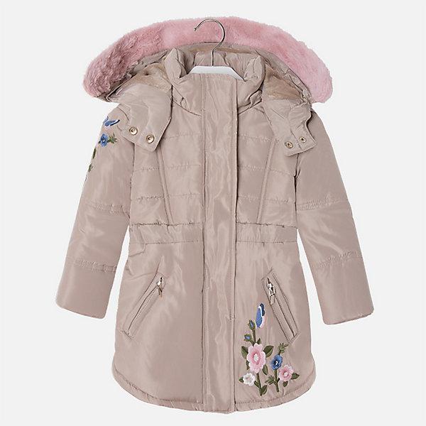 Куртка для девочки MayoralВерхняя одежда<br>Характеристики товара:<br><br>• цвет: коричневый<br>• состав ткани: 100% полиэстер, подклад - 100% полиэстер, утеплитель - 100% полиэстер<br>• застежка: молния<br>• длинные рукава<br>• опушка капюшона<br>• сезон: демисезон<br>• температурный режим: от 0 до -10С<br>• страна бренда: Испания<br>• страна изготовитель: Китай<br><br>Коричневая куртка для девочки эффектно смотрится благодаря модному силуэту и красивой опушке. Модная куртка от Майорал - это пример отличного вкуса и высокого качества. <br><br>В одежде от испанской компании Майорал ребенок будет выглядеть модно, а чувствовать себя - комфортно. Целая команда европейских талантливых дизайнеров работает над созданием стильных и оригинальных моделей одежды.<br><br>Куртку для девочки Mayoral (Майорал) можно купить в нашем интернет-магазине.<br><br>Ширина мм: 356<br>Глубина мм: 10<br>Высота мм: 245<br>Вес г: 519<br>Цвет: бежевый/розовый<br>Возраст от месяцев: 18<br>Возраст до месяцев: 24<br>Пол: Женский<br>Возраст: Детский<br>Размер: 92,122,116,110,104,98<br>SKU: 6924544