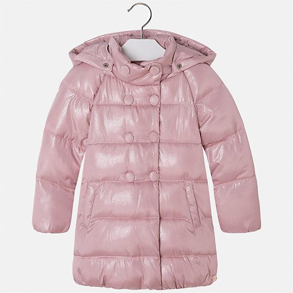 Куртка для девочки MayoralВерхняя одежда<br>Характеристики товара:<br><br>• цвет: розовый<br>• состав ткани: 100% полиэстер, подклад - 100% полиэстер, утеплитель - 100% полиэстер<br>• застежка: молния<br>• карманы<br>• съемный капюшон<br>• сезон: демисезон<br>• температурный режим: от 0 до -10С<br>• страна бренда: Испания<br>• страна изготовитель: Китай<br><br>Розовая утепленная куртка сделана из качественного материала. Такая куртка для девочки от бренда Майорал поможет ребенку выглядеть модно и чувствовать себя комфортно. Капюшон съемный. <br><br>Для производства детской одежды популярный бренд Mayoral использует только качественную фурнитуру и материалы. Оригинальные и модные вещи от Майорал неизменно привлекают внимание и нравятся детям.<br><br>Куртку для девочки Mayoral (Майорал) можно купить в нашем интернет-магазине.<br>Ширина мм: 356; Глубина мм: 10; Высота мм: 245; Вес г: 519; Цвет: розовый; Возраст от месяцев: 18; Возраст до месяцев: 24; Пол: Женский; Возраст: Детский; Размер: 92,134,128,122,116,110,104,98; SKU: 6924560;