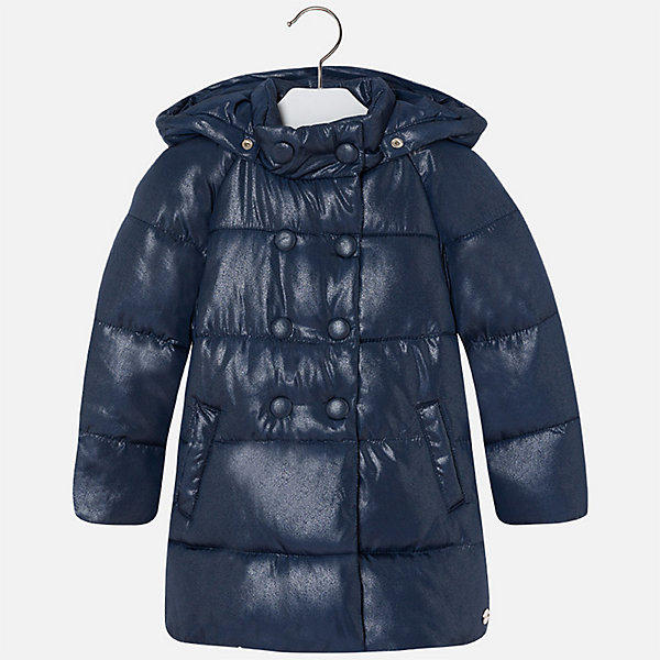 Куртка для девочки MayoralВерхняя одежда<br>Характеристики товара:<br><br>• цвет: синий<br>• состав ткани: 100% полиэстер, подклад - 100% полиэстер, утеплитель - 100% полиэстер<br>• застежка: молния<br>• карманы<br>• съемный капюшон<br>• сезон: демисезон<br>• температурный режим: от 0 до -10С<br>• страна бренда: Испания<br>• страна изготовитель: Китай<br><br>Синяя куртка для девочки эффектно смотрится благодаря модному силуэту. Такая куртка от Майорал - это пример отличного вкуса и высокого качества. <br><br>В одежде от испанской компании Майорал ребенок будет выглядеть модно, а чувствовать себя - комфортно. Целая команда европейских талантливых дизайнеров работает над созданием стильных и оригинальных моделей одежды.<br><br>Куртку для девочки Mayoral (Майорал) можно купить в нашем интернет-магазине.<br>Ширина мм: 356; Глубина мм: 10; Высота мм: 245; Вес г: 519; Цвет: синий; Возраст от месяцев: 18; Возраст до месяцев: 24; Пол: Женский; Возраст: Детский; Размер: 92,134,128,122,116,110,104,98; SKU: 6924569;
