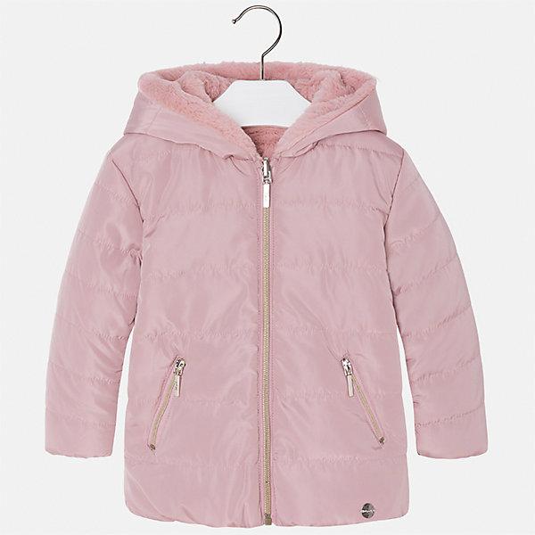 Куртка Mayoral для девочкиВерхняя одежда<br>Характеристики товара:<br><br>• цвет: розовый<br>• состав ткани: 100% полиамид, подклад - 100% полиэстер, утеплитель - 100% полиэстер<br>• застежка: молния<br>• капюшон<br>• двусторонняя<br>• сезон: демисезон<br>• температурный режим: от 0 до -10С<br>• страна бренда: Испания<br>• страна изготовитель: Китай<br><br>Такая куртка легко выворачивается на изнанку - и получается еще одна модель верхней одежды другой фактуры. Куртка от Mayoral соответствует новейшим тенденциям молодежной моды. <br><br>Детская одежда от испанской компании Mayoral отличаются оригинальным и всегда стильным дизайном. Качество продукции неизменно очень высокое.<br><br>Куртку для девочки Mayoral (Майорал) можно купить в нашем интернет-магазине.<br><br>Ширина мм: 356<br>Глубина мм: 10<br>Высота мм: 245<br>Вес г: 519<br>Цвет: розовый<br>Возраст от месяцев: 48<br>Возраст до месяцев: 60<br>Пол: Женский<br>Возраст: Детский<br>Размер: 104,98,92,134,128,122,116,110<br>SKU: 6924578