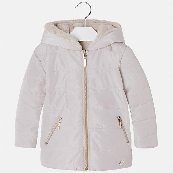 Куртка Mayoral для девочкиВерхняя одежда<br>Характеристики товара:<br><br>• цвет: бежевый<br>• состав ткани: 100% полиамид, подклад - 100% полиэстер, утеплитель - 100% полиэстер<br>• застежка: молния<br>• капюшон<br>• двусторонняя<br>• сезон: демисезон<br>• температурный режим: от 0 до -10С<br>• страна бренда: Испания<br>• страна изготовитель: Китай<br><br>Розовая двусторонняя куртка красивой расцветки сделана из качественного материала. Такая куртка для девочки от бренда Майорал поможет ребенку выглядеть модно и чувствовать себя комфортно. <br><br>Для производства детской одежды популярный бренд Mayoral использует только качественную фурнитуру и материалы. Оригинальные и модные вещи от Майорал неизменно привлекают внимание и нравятся детям.<br><br>Куртку для девочки Mayoral (Майорал) можно купить в нашем интернет-магазине.<br><br>Ширина мм: 356<br>Глубина мм: 10<br>Высота мм: 245<br>Вес г: 519<br>Цвет: бежевый<br>Возраст от месяцев: 18<br>Возраст до месяцев: 24<br>Пол: Женский<br>Возраст: Детский<br>Размер: 92,134,128,122,116,110,104,98<br>SKU: 6924587