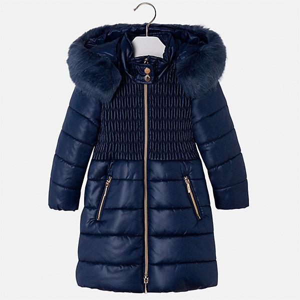 Куртка Mayoral для девочкиВерхняя одежда<br>Характеристики товара:<br><br>• цвет: синий<br>• состав ткани: 100% полиэстер, подклад - 100% полиэстер, утеплитель - 100% полиэстер<br>• застежка: молния<br>• съемный капюшон<br>• карманы<br>• сезон: демисезон<br>• температурный режим: от 0 до -10С<br>• страна бренда: Испания<br>• страна изготовитель: Китай<br><br>Синяя утепленная куртка Mayoral со с съемным капюшоном сделана из качественного материала. Такая куртка для девочки от бренда Майорал поможет ребенку выглядеть модно и чувствовать себя комфортно. <br><br>Для производства детской одежды популярный бренд Mayoral использует только качественную фурнитуру и материалы. Оригинальные и модные вещи от Майорал неизменно привлекают внимание и нравятся детям.<br><br>Куртку для девочки Mayoral (Майорал) можно купить в нашем интернет-магазине.<br>Ширина мм: 356; Глубина мм: 10; Высота мм: 245; Вес г: 519; Цвет: синий; Возраст от месяцев: 24; Возраст до месяцев: 36; Пол: Женский; Возраст: Детский; Размер: 98,134,128,122,116,110,104; SKU: 6924613;