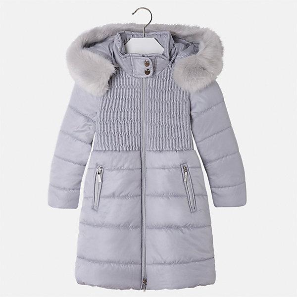 Куртка Mayoral для девочкиВерхняя одежда<br>Характеристики товара:<br><br>• цвет: серый<br>• состав ткани: 100% полиэстер, подклад - 100% полиэстер, утеплитель - 100% полиэстер<br>• застежка: молния<br>• съемный капюшон<br>• карманы<br>• сезон: демисезон<br>• температурный режим: от 0 до -10С<br>• страна бренда: Испания<br>• страна изготовитель: Китай<br><br>Светлая теплая куртка для девочки эффектно смотрится благодаря модному силуэту. Такая куртка от Майорал - это пример отличного вкуса и высокого качества. <br><br>В одежде от испанской компании Майорал ребенок будет выглядеть модно, а чувствовать себя - комфортно. Целая команда европейских талантливых дизайнеров работает над созданием стильных и оригинальных моделей одежды.<br><br>Куртку для девочки Mayoral (Майорал) можно купить в нашем интернет-магазине.<br>Ширина мм: 356; Глубина мм: 10; Высота мм: 245; Вес г: 519; Цвет: серый; Возраст от месяцев: 24; Возраст до месяцев: 36; Пол: Женский; Возраст: Детский; Размер: 98,134,128,122,116,110,104; SKU: 6924621;