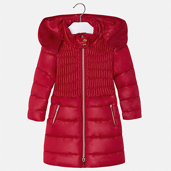 Куртка Mayoral для девочкиВерхняя одежда<br>Характеристики товара:<br><br>• цвет: красный<br>• состав ткани: 100% полиэстер, подклад - 100% полиэстер, утеплитель - 100% полиэстер<br>• застежка: молния<br>• съемный капюшон<br>• карманы<br>• сезон: демисезон<br>• температурный режим: от 0 до -10С<br>• страна бренда: Испания<br>• страна изготовитель: Китай<br><br>Эффектная красная куртка обеспечит ребенку тепло в межсезонье и небольшие морозы. Капюшон не ней отстегивается. Куртка от Mayoral соответствует новейшим тенденциям молодежной моды. <br><br>Детская одежда от испанской компании Mayoral отличаются оригинальным и всегда стильным дизайном. Качество продукции неизменно очень высокое.<br><br>Куртку для девочки Mayoral (Майорал) можно купить в нашем интернет-магазине.<br><br>Ширина мм: 356<br>Глубина мм: 10<br>Высота мм: 245<br>Вес г: 519<br>Цвет: красный<br>Возраст от месяцев: 24<br>Возраст до месяцев: 36<br>Пол: Женский<br>Возраст: Детский<br>Размер: 98,134,128,122,116,110,104<br>SKU: 6924629
