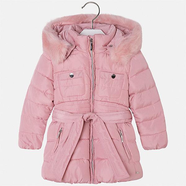 Куртка Mayoral для девочкиДемисезонные куртки<br>Характеристики товара:<br><br>• цвет: розовый<br>• состав ткани: 100% полиэстер, подклад - 100% полиэстер, утеплитель - 100% полиэстер<br>• застежка: молния<br>• съемный капюшон<br>• карманы<br>• сезон: зима<br>• температурный режим: от 0 до -10С<br>• страна бренда: Испания<br>• страна изготовитель: Китай<br><br>Розовая утепленная куртка Mayoral со съемным капюшоном сделана из качественного материала. Красиво смотрится благодаря опушке капюшона. Такая куртка для девочки от бренда Майорал поможет ребенку выглядеть модно и чувствовать себя комфортно. <br><br>Для производства детской одежды популярный бренд Mayoral использует только качественную фурнитуру и материалы. Оригинальные и модные вещи от Майорал неизменно привлекают внимание и нравятся детям.<br><br>Куртку для девочки Mayoral (Майорал) можно купить в нашем интернет-магазине.<br><br>Ширина мм: 356<br>Глубина мм: 10<br>Высота мм: 245<br>Вес г: 519<br>Цвет: розовый<br>Возраст от месяцев: 96<br>Возраст до месяцев: 108<br>Пол: Женский<br>Возраст: Детский<br>Размер: 134,92,98,104,110,116,122,128<br>SKU: 6924637