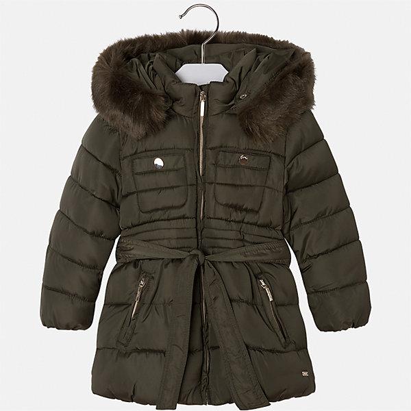 Куртка для девочки MayoralВерхняя одежда<br>Характеристики товара:<br><br>• цвет: зеленый<br>• состав ткани: 100% полиэстер, подклад - 100% полиэстер, утеплитель - 100% полиэстер<br>• застежка: молния<br>• съемный капюшон<br>• карманы<br>• сезон: зима<br>• температурный режим: от 0 до -10С<br>• страна бренда: Испания<br>• страна изготовитель: Китай<br><br>Теплая куртка модной расцветки для девочки эффектно смотрится благодаря приталенному силуэту и опушке капюшона. Такая куртка от Майорал - это пример отличного вкуса и высокого качества. <br><br>В одежде от испанской компании Майорал ребенок будет выглядеть модно, а чувствовать себя - комфортно. Целая команда европейских талантливых дизайнеров работает над созданием стильных и оригинальных моделей одежды.<br><br>Куртку для девочки Mayoral (Майорал) можно купить в нашем интернет-магазине.<br>Ширина мм: 356; Глубина мм: 10; Высота мм: 245; Вес г: 519; Цвет: зеленый; Возраст от месяцев: 18; Возраст до месяцев: 24; Пол: Женский; Возраст: Детский; Размер: 92,134,128,122,116,110,104,98; SKU: 6924646;
