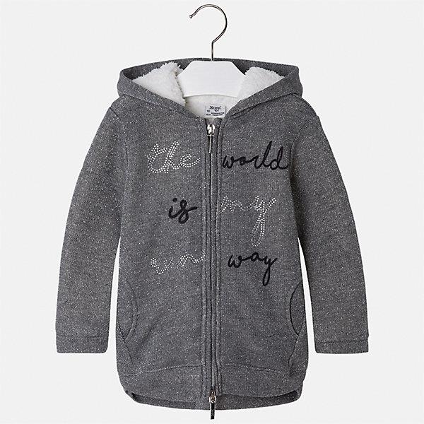 Куртка для девочки MayoralДемисезонные куртки<br>Характеристики товара:<br><br>• цвет: серый<br>• состав ткани: 48% хлопок, 44% полиэстер, 8% металлизированная нить, подклад - 100% полиэстер<br>• застежка: молния<br>• капюшон<br>• карманы<br>• сезон: демисезон<br>• температурный режим: от +5 до +15<br>• страна бренда: Испания<br>• страна изготовитель: Китай<br><br>Стильная куртка для девочки эффектно смотрится благодаря блестящему принту. Такая куртка от Майорал - это пример отличного вкуса и высокого качества. <br><br>В одежде от испанской компании Майорал ребенок будет выглядеть модно, а чувствовать себя - комфортно. Целая команда европейских талантливых дизайнеров работает над созданием стильных и оригинальных моделей одежды.<br><br>Куртку для девочки Mayoral (Майорал) можно купить в нашем интернет-магазине.<br><br>Ширина мм: 356<br>Глубина мм: 10<br>Высота мм: 245<br>Вес г: 519<br>Цвет: серый<br>Возраст от месяцев: 18<br>Возраст до месяцев: 24<br>Пол: Женский<br>Возраст: Детский<br>Размер: 92,134,128,122,116,110,104,98<br>SKU: 6924673