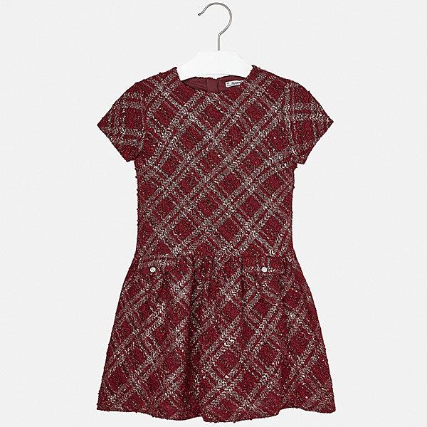 Платье для девочки MayoralПлатья и сарафаны<br>Характеристики товара:<br><br>• цвет: красный<br>• состав ткани: 100% полиэстер, подкладка - 65% полиэстер, 35% хлопок<br>• сезон: демисезон<br>• особенности: пайетки<br>• застежка: молния<br>• короткие рукава<br>• страна бренда: Испания<br>• страна изготовитель: Индия<br><br>Платье для девочки от Майорал подарит ребенку аккуратный внешний вид. В симпатичном платье для девочки от Майорал ребенок будет выглядеть модно, а чувствовать себя - удобно. Детское платье отличается модным и продуманным дизайном. <br><br>Платье для девочки Mayoral (Майорал) можно купить в нашем интернет-магазине.<br>Ширина мм: 236; Глубина мм: 16; Высота мм: 184; Вес г: 177; Цвет: красный; Возраст от месяцев: 168; Возраст до месяцев: 180; Пол: Женский; Возраст: Детский; Размер: 170,128/134,140,152,158,164; SKU: 6925218;