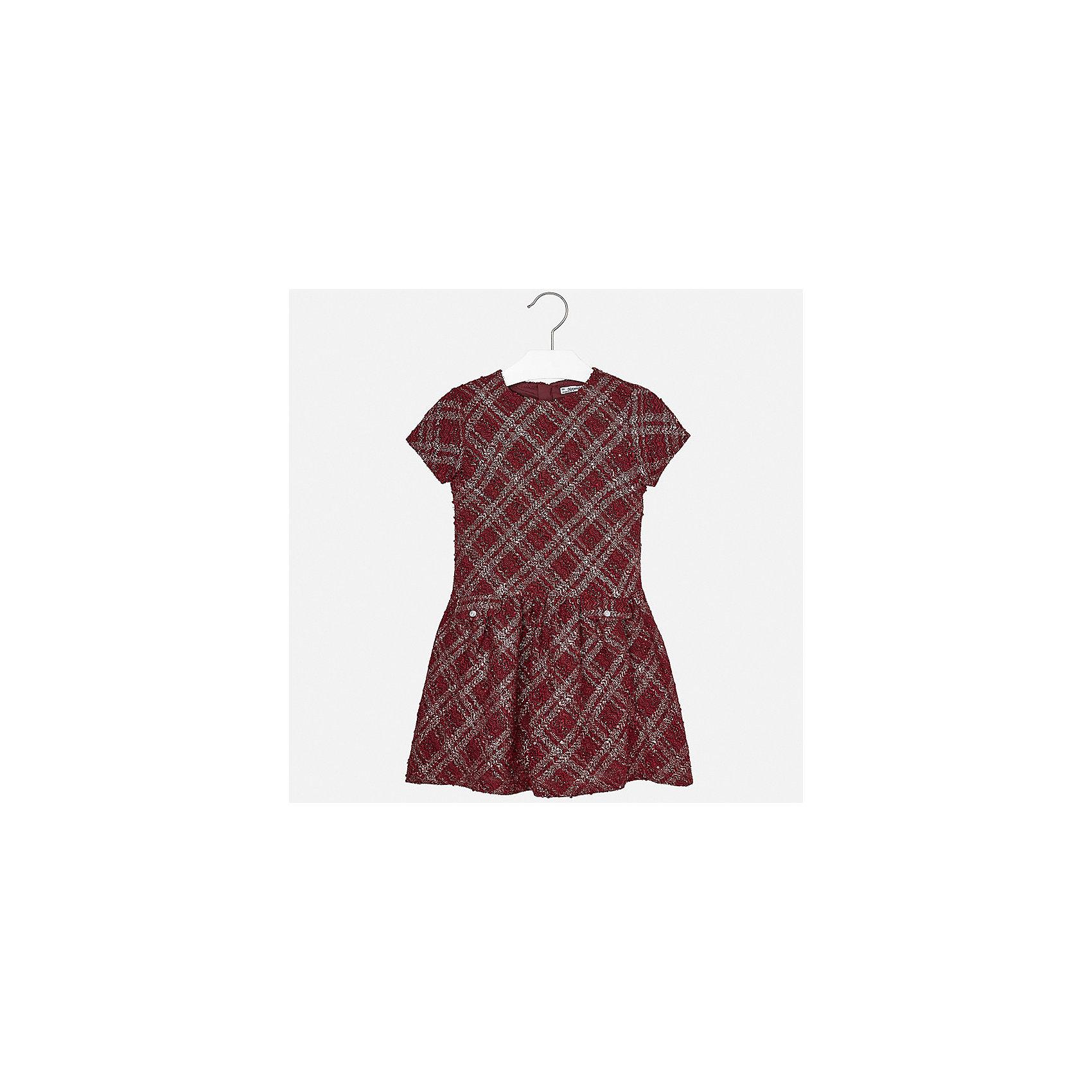 Платье для девочки MayoralПлатья и сарафаны<br>Характеристики товара:<br><br>• цвет: красный<br>• состав ткани: 100% полиэстер, подкладка - 65% полиэстер, 35% хлопок<br>• сезон: демисезон<br>• особенности: пайетки<br>• застежка: молния<br>• короткие рукава<br>• страна бренда: Испания<br>• страна изготовитель: Индия<br><br>Платье для девочки от Майорал подарит ребенку аккуратный внешний вид. В симпатичном платье для девочки от Майорал ребенок будет выглядеть модно, а чувствовать себя - удобно. Детское платье отличается модным и продуманным дизайном. <br><br>Платье для девочки Mayoral (Майорал) можно купить в нашем интернет-магазине.<br><br>Ширина мм: 236<br>Глубина мм: 16<br>Высота мм: 184<br>Вес г: 177<br>Цвет: красный<br>Возраст от месяцев: 156<br>Возраст до месяцев: 168<br>Пол: Женский<br>Возраст: Детский<br>Размер: 164,170,128/134,140,152,158<br>SKU: 6925218