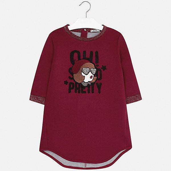 Платье для девочки MayoralПлатья и сарафаны<br>Характеристики товара:<br><br>• цвет: красный<br>• состав ткани: 65% полиэстер, 35% вискоза<br>• сезон: демисезон<br>• особенности: аппликация, пайетки<br>• застежка: молния<br>• длинные рукава<br>• страна бренда: Испания<br>• страна изготовитель: Индия<br><br>Это платье для девочки от Майорал подарит ребенку аккуратный внешний вид. В симпатичном платье для девочки от Майорал ребенок будет выглядеть модно, а чувствовать себя - удобно. Детское платье отличается оригинальной отделкой. <br><br>Платье для девочки Mayoral (Майорал) можно купить в нашем интернет-магазине.<br><br>Ширина мм: 236<br>Глубина мм: 16<br>Высота мм: 184<br>Вес г: 177<br>Цвет: красный<br>Возраст от месяцев: 96<br>Возраст до месяцев: 108<br>Пол: Женский<br>Возраст: Детский<br>Размер: 128/134,170,164,158,152,140<br>SKU: 6925239
