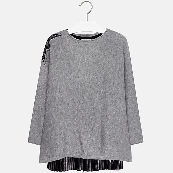 Платье Mayoral для девочкиПлатья и сарафаны<br>Характеристики товара:<br><br>• цвет: серый<br>• состав ткани платья: 80% полиэстер, 20% хлопок, подкладка - 65% полиэстер, 35% хлопок<br>• состав ткани свитера: 47% полиамид, 47% акрил, 6% ангора<br>• комплект: свитер, платье<br>• сезон: демисезон<br>• особенности: кружева, стразы<br>• длинные рукава<br>• страна бренда: Испания<br>• страна изготовитель: Индия<br><br>Оригинальное детское платье дополнено свитером в цвет, Платье сделано из приятного на ощупь материала. Благодаря качественной ткани детского платья для девочки создаются комфортные условия для тела. Платье для девочки отличается стильным дизайном.<br><br>Комплект: платье и свитер для девочки Mayoral (Майорал) можно купить в нашем интернет-магазине.<br>Ширина мм: 236; Глубина мм: 16; Высота мм: 184; Вес г: 177; Цвет: серый; Возраст от месяцев: 132; Возраст до месяцев: 144; Пол: Женский; Возраст: Детский; Размер: 152,140,128/134,170,164,158; SKU: 6925246;