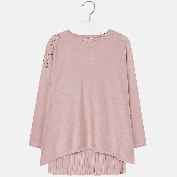 Платье для девочки MayoralОсенне-зимние платья и сарафаны<br>Характеристики товара:<br><br>• цвет: розовый<br>• состав ткани платья: 80% полиэстер, 20% хлопок, подкладка - 65% полиэстер, 35% хлопок<br>• состав ткани свитера: 47% полиамид, 47% акрил, 6% ангора<br>• комплект: свитер, платье<br>• сезон: демисезон<br>• особенности: кружева, стразы<br>• длинные рукава<br>• страна бренда: Испания<br>• страна изготовитель: Индия<br><br>Красивое платье для девочки от Майорал подарит ребенку аккуратный внешний вид. В симпатичном платье девочка ребенок будет выглядеть модно, а чувствовать себя - удобно. Детское платье дополнено свитером. <br><br>Комплект: платье и свитер для девочки Mayoral (Майорал) можно купить в нашем интернет-магазине.<br><br>Ширина мм: 236<br>Глубина мм: 16<br>Высота мм: 184<br>Вес г: 177<br>Цвет: розовый<br>Возраст от месяцев: 168<br>Возраст до месяцев: 180<br>Пол: Женский<br>Возраст: Детский<br>Размер: 170,128/134,140,152,158,164<br>SKU: 6925260